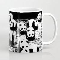 animal crew Mugs featuring Crew by Panda Cool