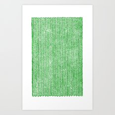 Stockinette Green Art Print