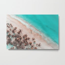 Ocean Beach Aerial View Metal Print