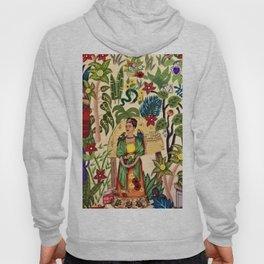 Frida's Garden, Casa Azul Lush Greenery Frida Kahlo Landscape Painting Hoody