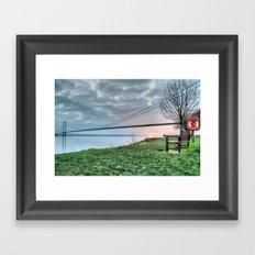 Sunset at the Humber Bridge Framed Art Print