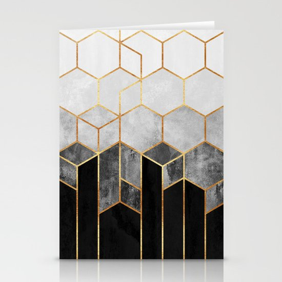 Charcoal Hexagons by elisabethfredriksson