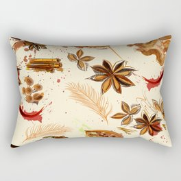 World of spices. Vector design Rectangular Pillow