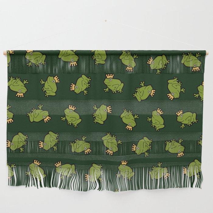 Frog Prince Pattern Wall Hanging