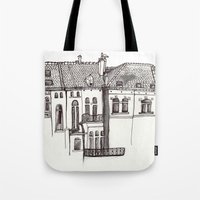 brussels Tote Bags featuring Brussels by MadmFia