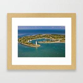 Biscayne Bay Boca Chita key Florida Framed Art Print