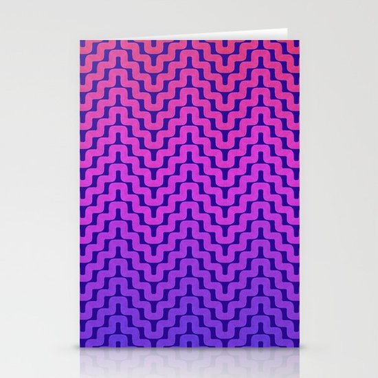 Rick Rack Pink Ombre Stationery Cards
