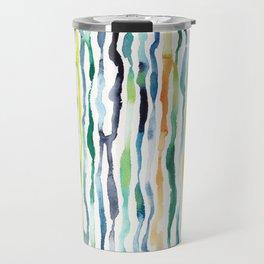 Ocean Zebra Chevron Travel Mug