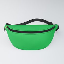 Mid Green Solid Color Block Fanny Pack