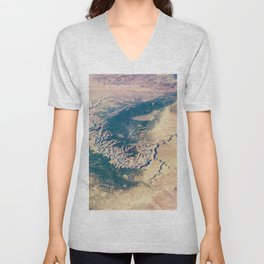 Grand Canyon Satellite Photograph from Earth's Orbit Unisex V-Neck