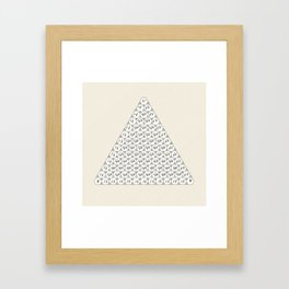 Lichtenberg-Mayer Colour Triangle with letters and numbers, Remake of Mayer's original illustration Framed Art Print