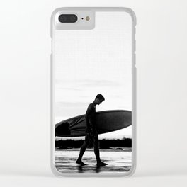 Surf Boy Clear iPhone Case