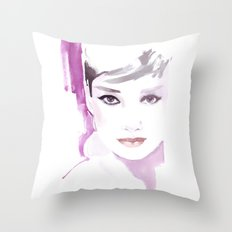 Fashion illustration in watercolors and ink Throw Pillow