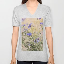 #Elegant #Beautiful #Wildflower #meadow #pattern Unisex V-Neck