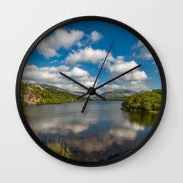 Lake Padarn Llanberis Wales Wall Clock