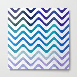 High Seas Stripe Waves Metal Print