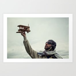 Dreamy aviator Art Print