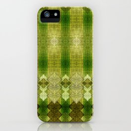 """Green diamonds pattern"" iPhone Case"