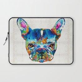 Colorful French Bulldog Dog Art By Sharon Cummings Laptop Sleeve