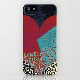 New love heart design valentines 2017 iPhone Case