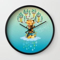 Cloud Music Wall Clock