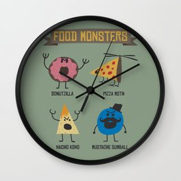 Food Monsters Wall Clock