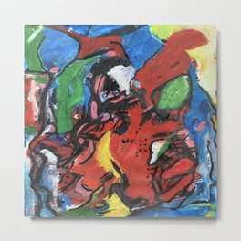 Animalistic, an abstract portrait. Metal Print