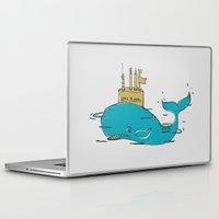 yellow submarine Laptop & iPad Skins featuring SUBMARINE by yamini
