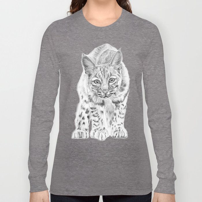 On the Prowl :: A Young Bobcat Long Sleeve T-shirt