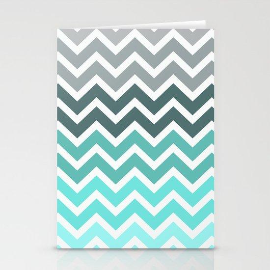 Tiffany Fade Chevron Pattern Stationery Cards