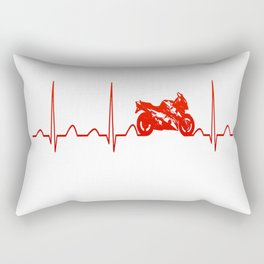 MOTORBIKE HEARTBEAT Rectangular Pillow