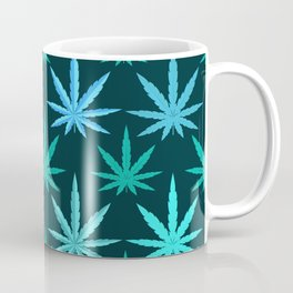 Marijuana Teal Weed Coffee Mug