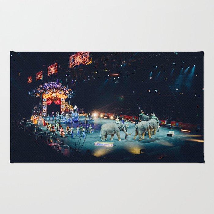 Circus, Elephants Rug