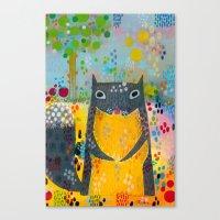 squirrel Canvas Prints featuring Squirrel by Madara Mason Studio