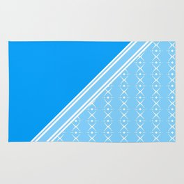 A delicate soft baby blue diamond striped pattern. Rug