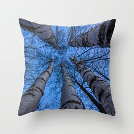Five Trees Throw Pillow