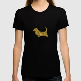 Basset Hound | Dog | gold foil T-shirt