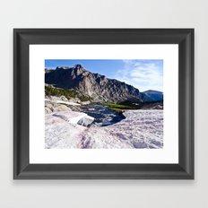 Glacier Walk Framed Art Print