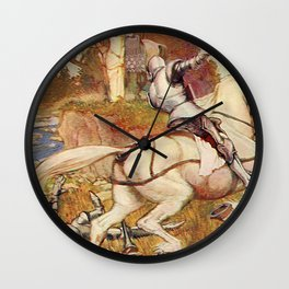 Jousting knights Wall Clock