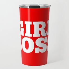 Girl Boss - Orange Red Travel Mug