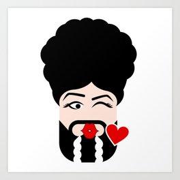 LaMoji Kiss Art Print