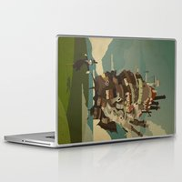 castle Laptop & iPad Skins featuring Moving Castle by Danny Haas