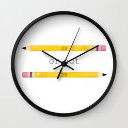 2B or not 2B Wall Clock