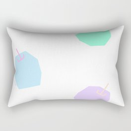 Words from Colorful Apples - fruits illustration Rectangular Pillow