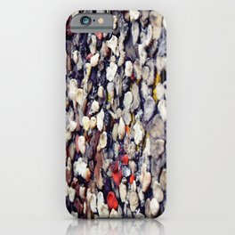 Berlin Wall with color graffiti and chewing gum iPhone Case