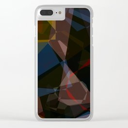 Deep Space Polygons Clear iPhone Case