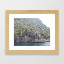Mediterranean Aegean sea the Turkey, Marmaris Framed Art Print