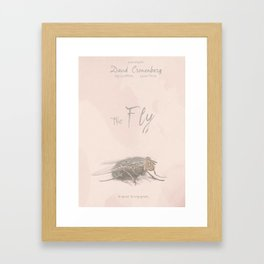 The Fly - Movie poster from David Cronenberg's classic horror film with Jeff Goldblum Framed Art Print