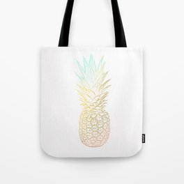 Ombre Gold Pineapple  Tote Bag