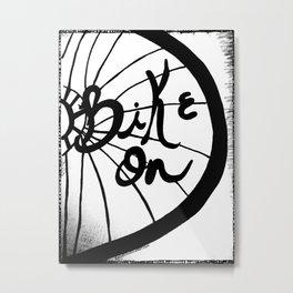 Bike On Metal Print